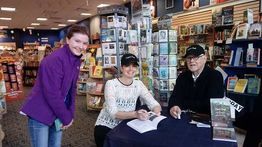 Author Bridget Hart-Kenney and her Dad Joseph Michael Hart recently visited Storybook Cove