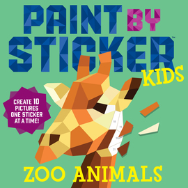 PAINT BY STICKER FOR KIDS ZOO ANIMALS