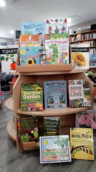 We have gardening titles for all ages on our shelves.