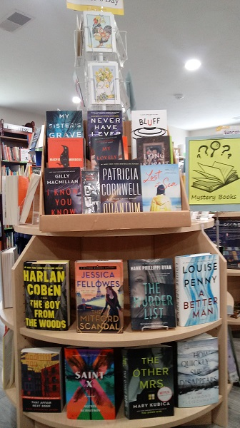 We have a variety of mystery books that your mother will love.